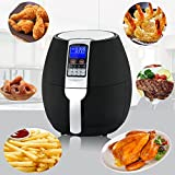 ZENY 1500W Electric Air Fryer Oil Free Cooking Large Capacity 3.7QT w/LCD Digital Screen, 8 Cook Presets, Dishwasher Safe Parts (Black) Review
