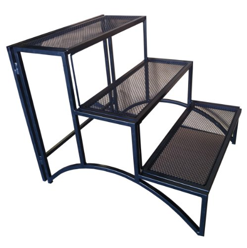 Pangaea Home and Garden Folding Rectangular Three Layer Iron Plant Stand by Pangaea Home and Garden