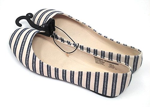 Vrouwen Casual Ballet Flats (7 B (m) Ons, Marine / Strepen)