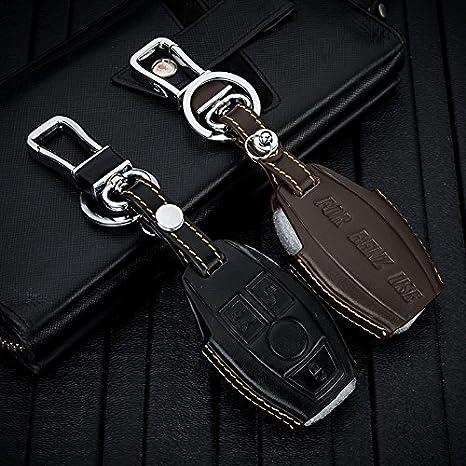 REGEM Mercedes-Benz B C E G S Class//CLS CLA SLK SL GLA GLC 200 300 320 400 500 600 180 use Car KEYCASS Leather CAR Key CASE Holder