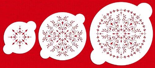 Designer Stencils C059 Round Medallion Cake Stencil Set, Beige/semi-transparent by Designer Stencils