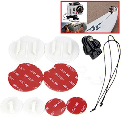 For GoPro Tether Kit Surfboard Set Snowboarding Mount For Go Pro Surf Pack Hero 1 2 3 3+ 4 Surfing Kit Action Camera Accessories Ziefly edge