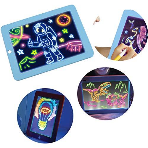 MaxFox Children Magic Pad Create That Glows 3D Stencils Pain