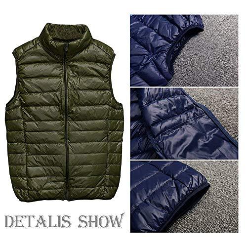 Quilted Lightly Vest Warm Clothing Comfortable Jacket Down Men Down Sizes Mens Coat Grün Vest Sleeveless Padded Vests Zipper Vest Winter Coat fashion HX Jacket wxTPEE