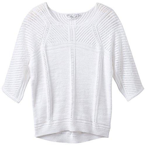 prAna Getup Sweater, White, Large