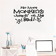 bileso Wall Quotes Decal Wall Stickers Art Decor No More Monkeys Jumpin' on the Bed!
