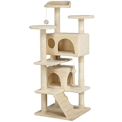 Amazon Com Yaheetech 51 Cat Tree Tower Condo Furniture Scratch