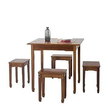 Sjysxm Tische Bambus Esstisch Und Stuhl Set Platz Utility Table Fur