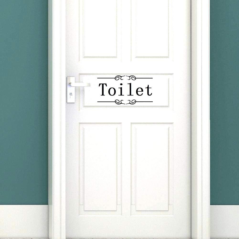 Funny Toilet//bathroom Door Sign Stick Wall Art Sticker Decal Decoration