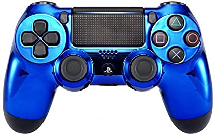 Amazon com: Blue Chrome Modded PS4 Rapid Fire Controller for All
