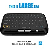 EASYTONE H18 2.4Ghz Wireless Mini Keyboard with Touchpad Mouse, Whole Panel Touchpad and Handheld Remote for PC, Pad, Google Android TV Box and More