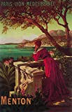 Menton, France - French Riviera Travel Poster # 2 (24x36 SIGNED Print Master Giclee Print w/ Certificate of Authenticity - Wall Decor Travel Poster)