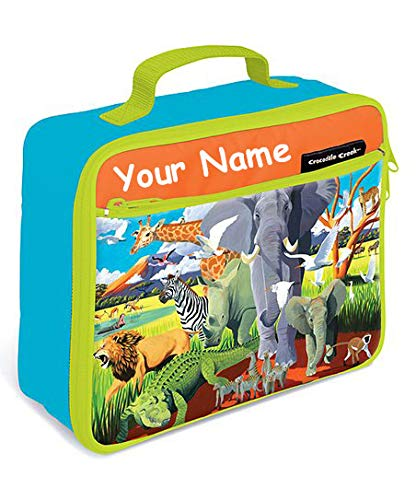 - Personalized Crocodile Creek Kids Wild Safari Jungle Animals Lunchbox Lunch Bag Tote