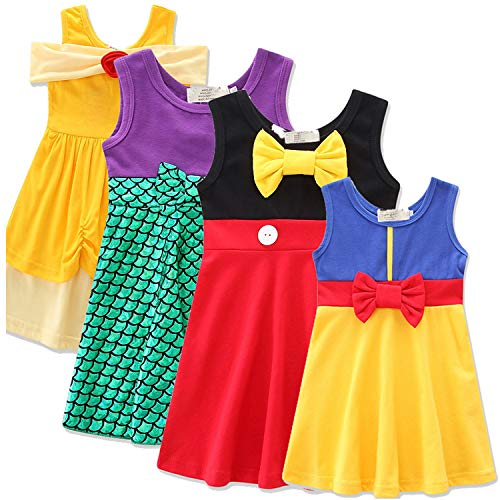 HBH Little Girls Mermaid Outfit Playwear Birthday Party Cosplay Bowknot Dress ()