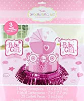 Amscan Sweet Birthday Girl 1st Birthday Table Decorating Kit