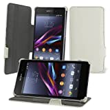 Celicious Notecase U2 Leather Ultra-Slim Wallet Stand Case for Sony Xperia Z1 - White