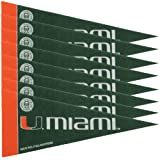 NCAA Miami 8 Pc Mini Pennant Pack Sports Fan Home Decor, Multicolor, One Size