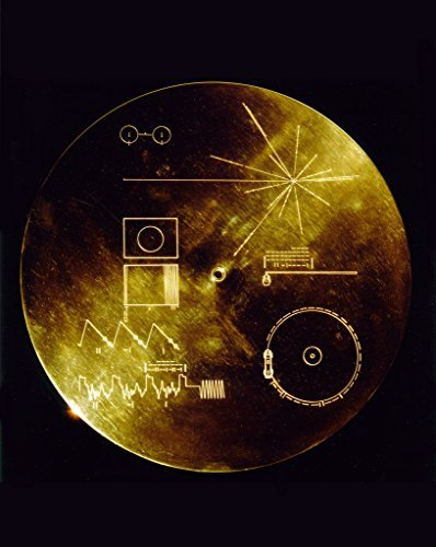 Poster A3 NASA The Sounds of Earth Record Cover This gold aluminum cover was