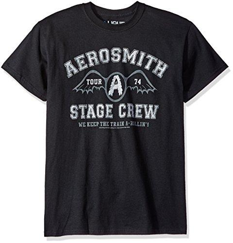 (Liquid Blue Men's Aerosmith Crew T-Shirt, Black, X-Large )