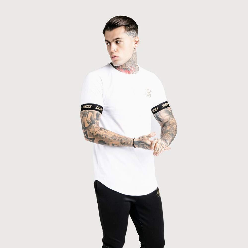 SIK SILK Dani Alves S//S Gold Reflect Raglan Tech T-Shirt White