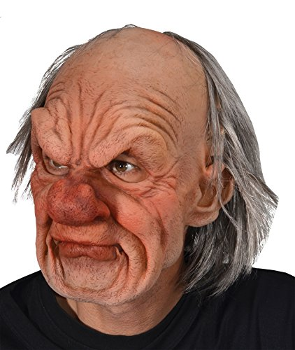 Zagone Grumpy Mask, Old Angry Male, Supersoft -