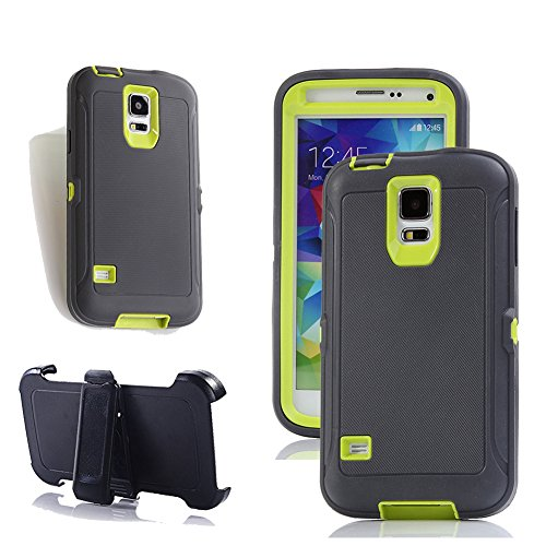 Galaxy S5 Holster Case, Harsel Defender Series Heavy Duty Tree Camo High Impact Tough Rugged Hybrid Rubber Protective w