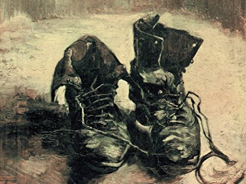Posters: Vincent Van Gogh Poster Art Print - Still Life, A Pair Of Shoes, 1886 (32 x 24 inches) (Pair Van Shoes Gogh Vincent)