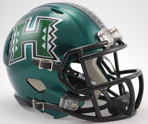 Hawaii Helmet Warriors (NCAA Hawaii Rainbow Warriors Speed Mini Helmet)