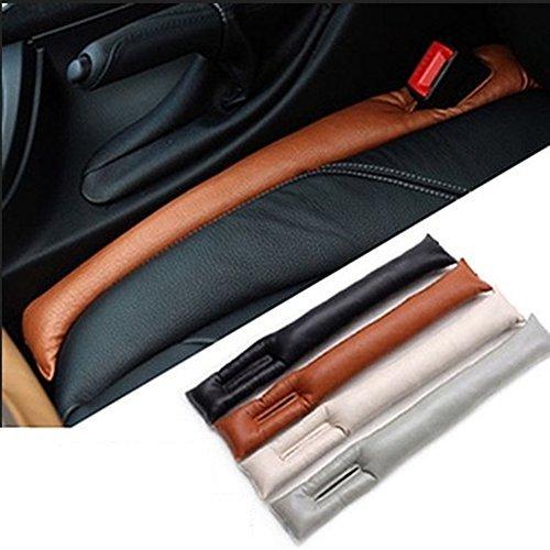 Car Vehicle PU Leather Seat Hand Brake Gap Filler Soft Pad,Set of 2(4 colors) (black)