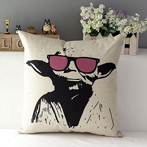 120g 45cm Fashion Star Wars yoda Linen Fabric Throw Pillow