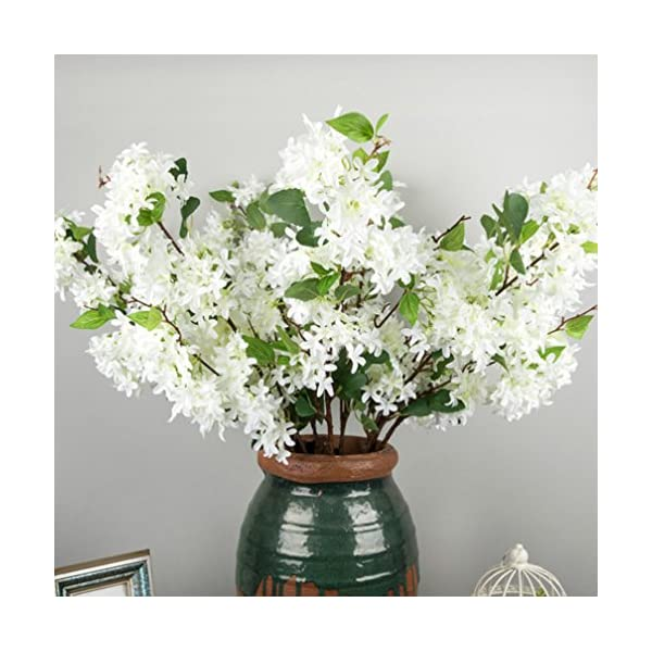 Skyseen-3Pcs-Lilac-Silk-Flower-Artificial-Syringa-Linn-ArrangementWhite