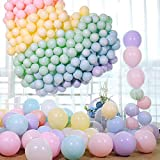 100pcs Pastel Latex Balloons 10 Inches Assorted Macaron Candy Colored Latex Party Balloons for Wedding Graduation