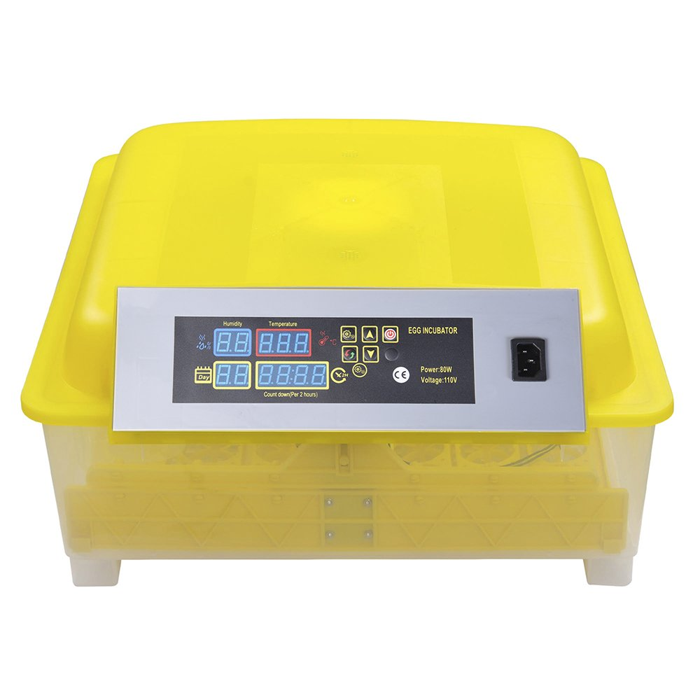 Yescom Digital 48 Egg Incubator Clear Hatcher w/ Automatic Turner Chicken Poultry Duck Bird