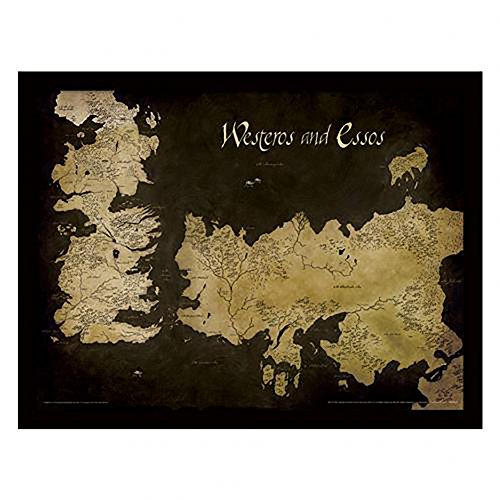 "Game of Thrones - 16"" x 12"" Framed Picture (Map)"
