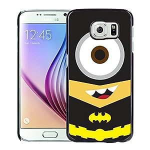 Custom Luxury Cover Case With Batman Minion Black Samsung Galaxy S6 Case