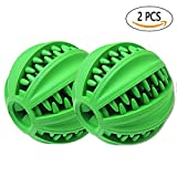 Interactive Dog Toy, Durable Tooth Cleaning Rubber Dog Balls for Pet Playing/ Training/Chewing, Tough Nearly Indestructible Dog Toys 2PCS (Medium)