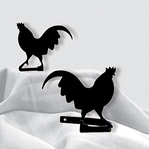 (Wrought Iron Rooster Curtain Tie Backs)