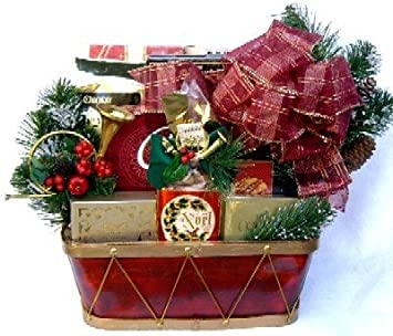 joyous and jolly holiday theme christmas gift basket mens christmas gift or womens christmas gift