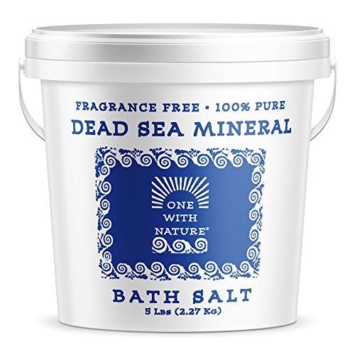 100% Pure Dead Sea Mineral Bath Salt 5Lb Frag Free by One With Nature