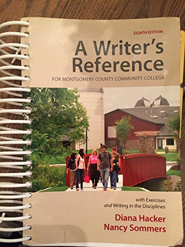 A Writer's Reference with Exercises: Custom Montgomery Community College Edition