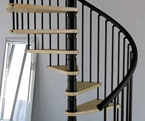 Mister Step Gamia Wood embarazada escalera interior de madera y acero inoxidable: Amazon.es: Bricolaje y herramientas