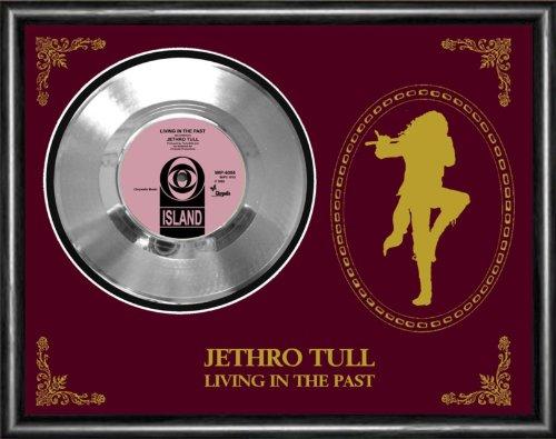 Jethro Tull Living In The Past Silver Vinyl Record Framed Display (Jethro Tull Living In The Past Vinyl)
