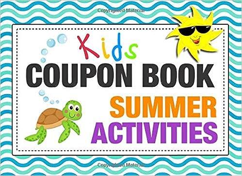 Kids Coupon Book Summer Activities Customizable Gift Vouchers To