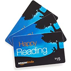 Amazon.com $15 Gift Cards, Pack of 3 (Amazon Kindle Card Design)