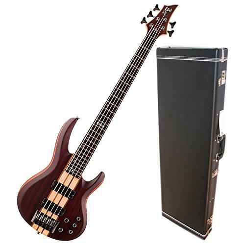 Esp Hardshell - ESP LTD B-5 Ebony Natural Satin Electric Bass w/ Hardshell Case