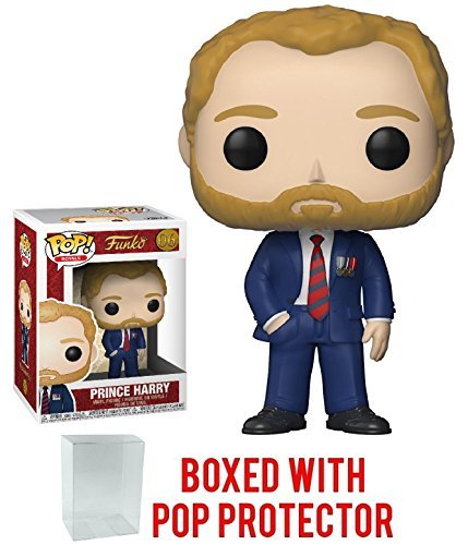Funko Pop! Royals: The Royal Family - Prince Harry Vinyl Figure (Bundled with Pop Box Protector -