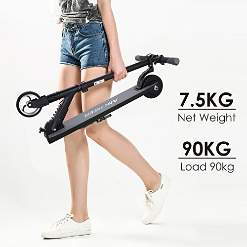 Turning Circle (Ancheer X100 Ultra Light Electric Scooters foldable E-scooter for Teens/Adult Short Commute, 3H Fast Charge and Max 14mph (black2018))