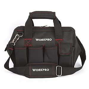 WORKPRO W081020AU - Bolsa de herramientas compacto con boca ancha arriba de 30 cm