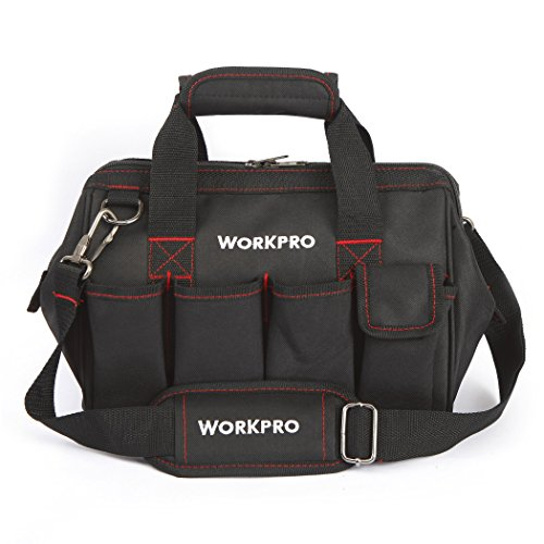 WORKPRO W081020A Compact Tool Storage Bag Top Wide Mouth, 12
