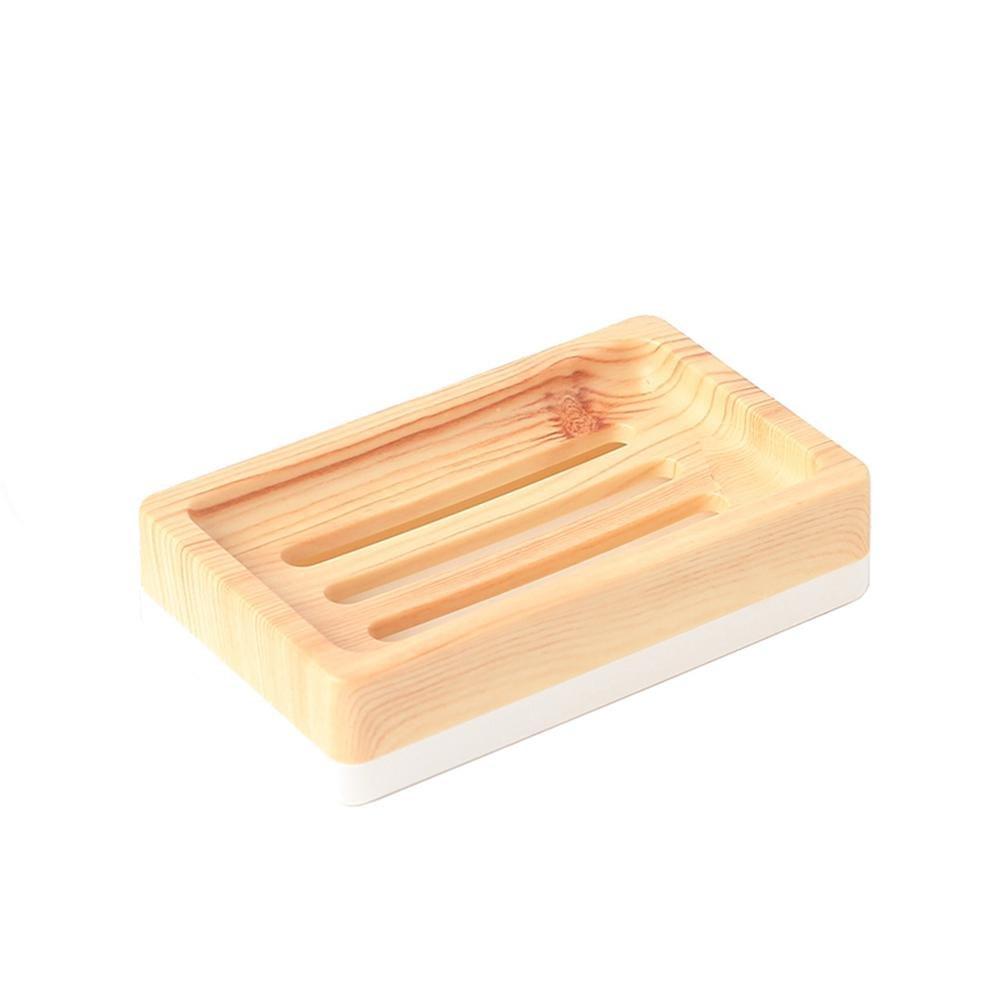 HUAZHUANGXIANGBAO finto legno semplice scarico scatola di sapone e sapone porta sapone igienica porta sapone in stile giapponese piani bagno XIUXIU